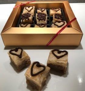 Walnuts, honey, chocolate