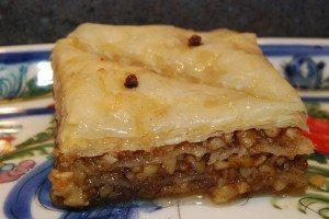 Traditional Greek walnut baklava from Glyka Sweets