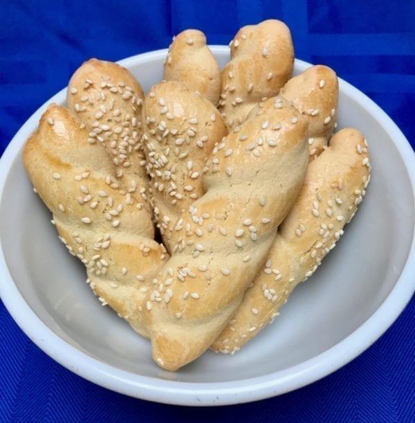 Koulourakia twist butter cookies from Glyka Sweets